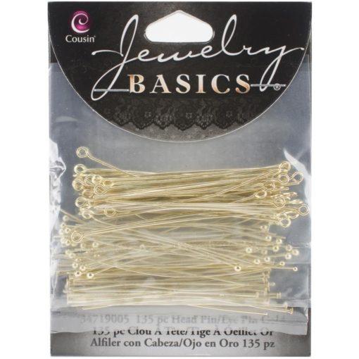 Jewellery Basics – Head & Eye Pins - Gold (135 pieces) .2