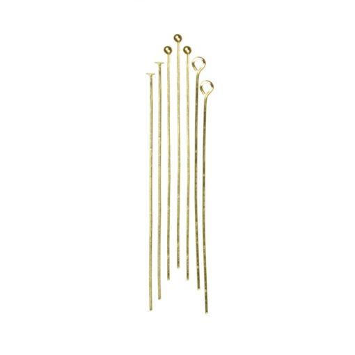 Jewellery Basics – Head & Eye Pins - Gold (135 pieces)