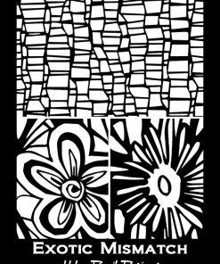 Silk Screen Stencils by Helen Breil - Exotic Mismatch.1