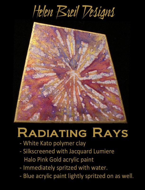 Silk Screen Stencils by Helen Breil - Radiating Rays.6