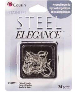 Stainless Steel Elegance Fish Hook Earwires
