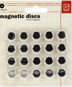 Thin Magnetic Discs - 10 sets 10mm x 1.5mm