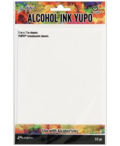 Tim Holtz Alcohol Ink Translucent Yupo Paper 10 Sheets