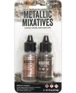 Adirondack® Alcohol Ink Mixatives Kit - Rose Gold & Gunmetal.2