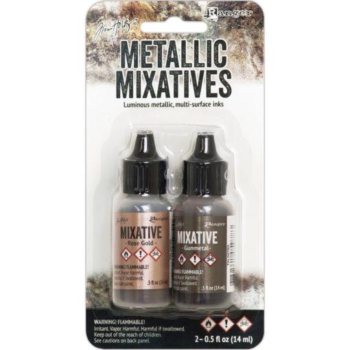 Adirondack® Alcohol Ink Mixatives Kit - Rose Gold & Gunmetal.2