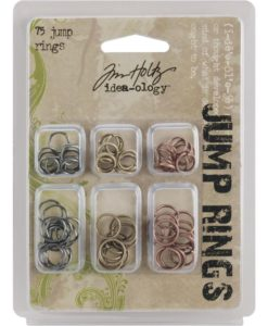 Tim Holtz Idea-ology Jump Rings 8mm & 10mm, 75 per pkg.