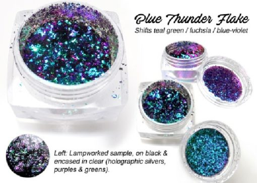 Lumiere Lusters™ - Blue Thunder Flake (High Temp)