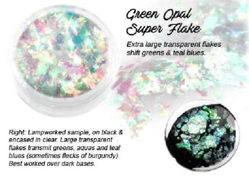 Lumiere Lusters™ - Green Opal Super Flake (High Temp)