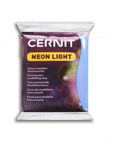 Cernit Neon Light Polymer Clay - 56g Blue