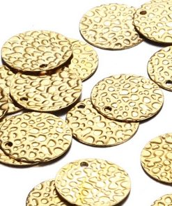 Gold 13mm Disks - Pebbles