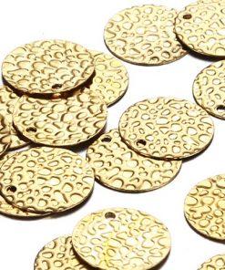 Gold 13mm Disks - Pebbles
