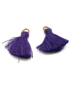 Pair of 25mm Tassels with Jump Rings - Purple