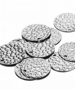 Silver 13mm Disks - Pebbles