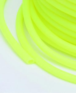3mm Hollow Core Rubber Tubing - Chartreuse Yellow (per metre)