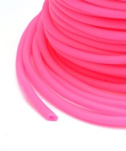 3mm Hollow Core Rubber Tubing - Deep Pink (per metre)
