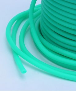 3mm Hollow Core Rubber Tubing - Turquoise (per metre)