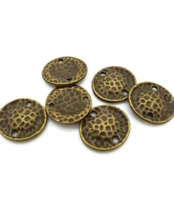 Antique Bronze Connector Disks - 15mm (6 Pkg)