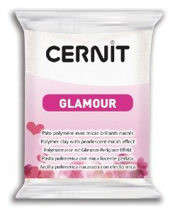 Cernit Glamour Polymer Clay, 010 White - 56g