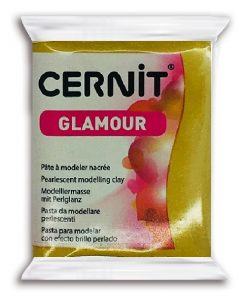 Cernit Glamour Polymer Clay, 055 Antique Gold - 56g