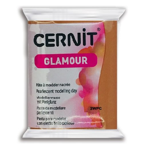 Cernit Glamour Polymer Clay, 057 Copper - 56g