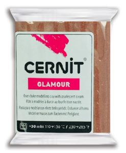 Cernit Glamour Polymer Clay, 800 Brown - 56g