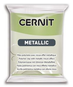 Cernit Metallics Polymer Clay, 051 Green Gold - 56g