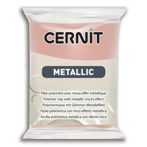 Cernit Metallics Polymer Clay, 052 Rose Gold - 56g