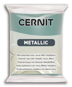 Cernit Metallics Polymer Clay, 054 Gold Blue - 56g