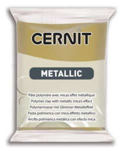 Cernit Metallics Polymer Clay, 055 Antique Gold - 56g