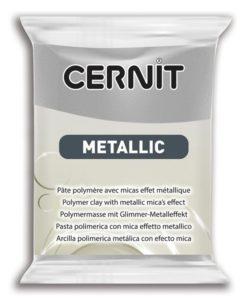Cernit Metallics Polymer Clay, 080 Silver - 56g