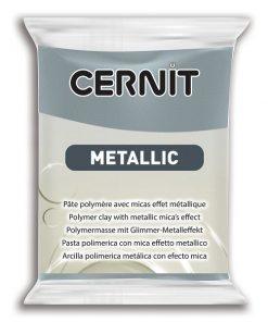 Cernit Metallics Polymer Clay, 167 Steel - 56g