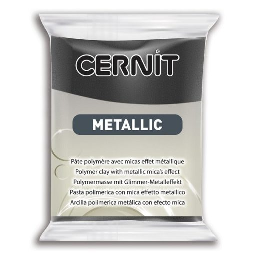 Cernit Metallics Polymer Clay, 169 Hematite - 56g