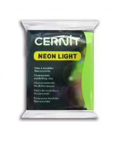 Cernit Neon Light Polymer Clay - 56g Green