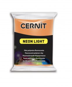 Cernit Neon Light Polymer Clay - 56g Orange