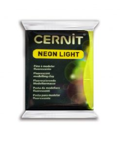 Cernit Neon Light Polymer Clay - 56g Yellow