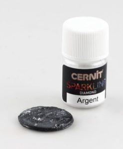 Cernit Sparkling, 080 Diamond Silver, 5g