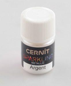 Cernit Sparkling, 080 Metallic Silver, 5g