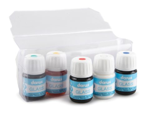 Darwi Glass Kit, 5 x 30ml colours