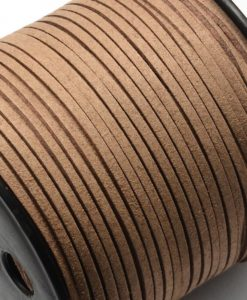 Faux Suede Cord, 4mm x 1mm - Brown
