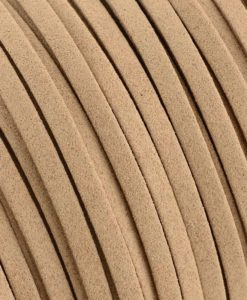 Faux Suede Cord, 6mm x 1.5mm - Lt Brown