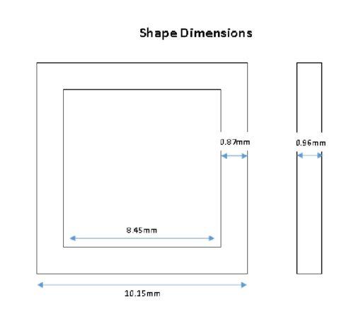 Gold Colour Square Shape Connectors - 10mm (6pkg).1