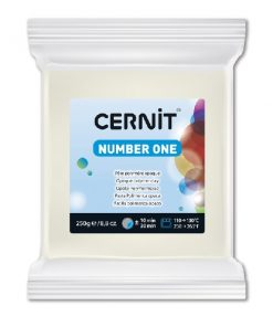 Polymer Clay Cernit Number One, 027 Opaque White - 250g