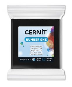 Polymer Clay Cernit Number One, 100 Black - 250g