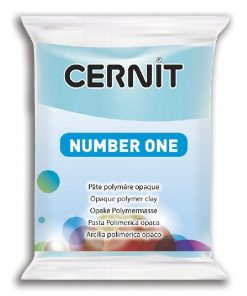 Polymer Clay Cernit Number One, 214 Sky Blue - 56g