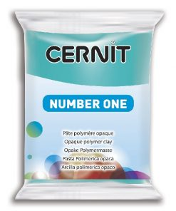 Polymer Clay Cernit Number One, 280 Turquoise Blue - 56g