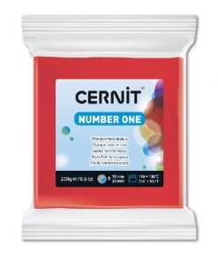 Polymer Clay Cernit Number One, 400 Red - 250g