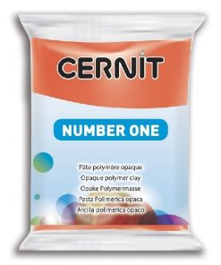 Polymer Clay Cernit Number One, 428 Poppy Red - 56g