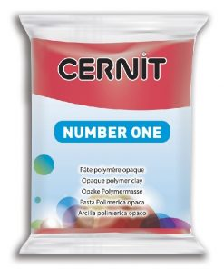 Polymer Clay Cernit Number One, 463 Xmas Red - 56g