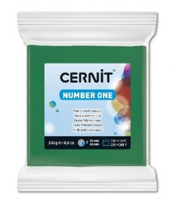 Polymer Clay Cernit Number One, 600 Green - 250g
