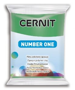 Polymer Clay Cernit Number One, 600 Green - 56g